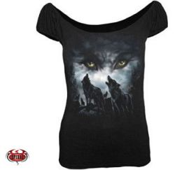 Spiral Direct Howling Wolves Top