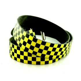 Belt Checkerboard yellow/black