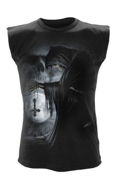 Spiral Direct Death Prayer Sleeveless Black Top