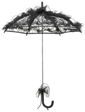 "Bridal umbrella ""Madeleine"" black"