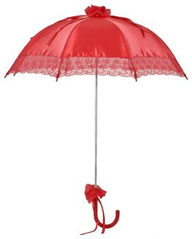 "Bridal umbrella ""Nathalie"" red"