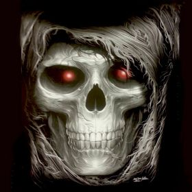 Red eye Skull - T-Shirt