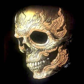 Skull Head 3D T-Shirt Glow in the Dark 3D