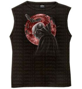 Spiral Direct Vampire Moon Sleeveless Black Top
