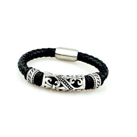 Stainles Steel & Leather Bracelet Lily