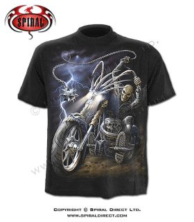 Spiral Direct Ride To Hell Black T-shirt