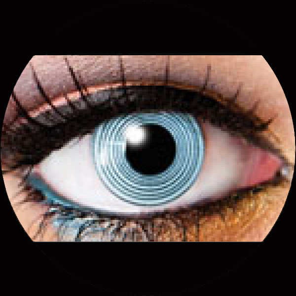Contact Lenses Black Spiral