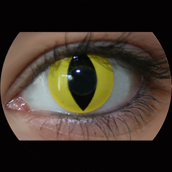 Contact Lenses Yellow Cat Eye